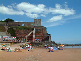 Beach holidays Devon: Sidmouth Beach at Jacob's Ladder