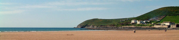 North Devon: Croyde Beach, great for surfers and flying kites